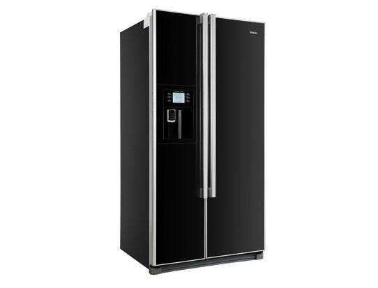 Amerikanischer Kühlschrank Schwarz : Haier hrf 663cjb side by side kühlschrank schwarz in bielefeld