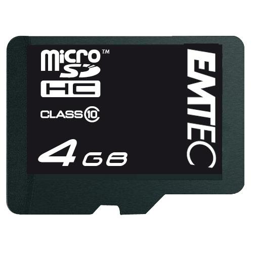 Emtec 4GB microSD (Schwarz)