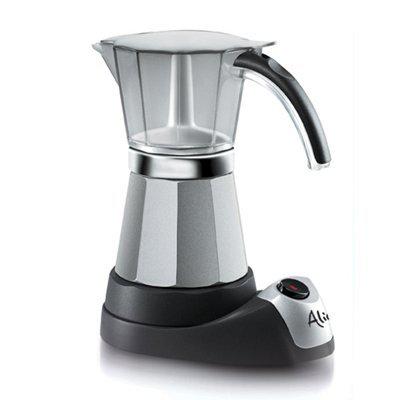 DeLonghi Alicia Electric Moka Coffee Machine EMK6 (Silber)