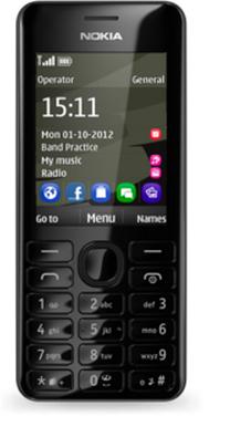 Nokia 206 Dual SIM (Schwarz)