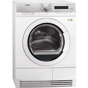 AEG T76485IH1 Wäschetrockner (Grau, Weiß)