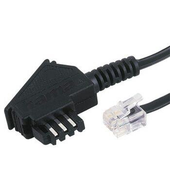 Hama TAE F Cable Universal, 10 m, Black (Schwarz)