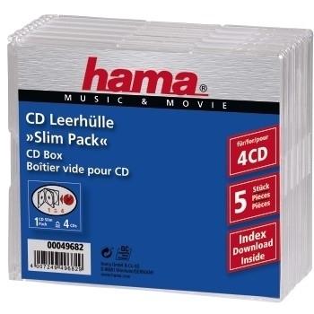 Hama CD Slim Jewel Case 4 (Transparent) in Dresden kaufen - Taschen ...