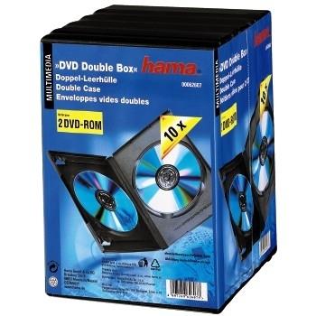 Hama DVD Double Empty Case,foil, pack 10, black (Schwarz)