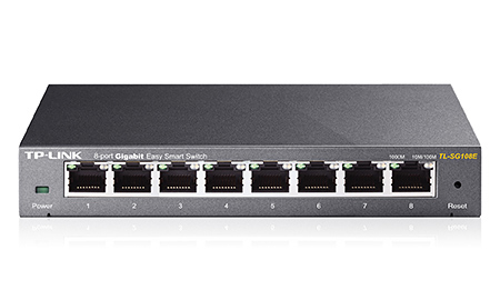 TP-LINK TL-SG108E Netzwerk Switch (Schwarz)