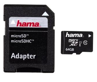 Hama 64GB microSDXC (Schwarz)