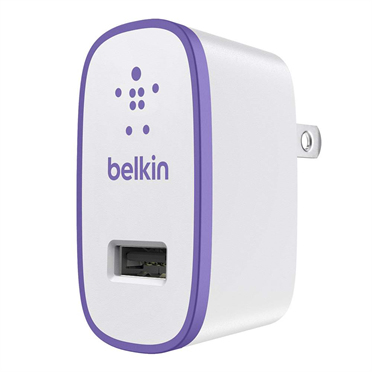 Belkin F8J052VFPUR Ladegeräte für Mobilgerät (Violett, Weiß)
