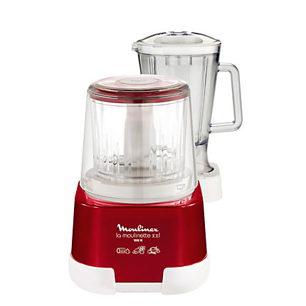 Moulinex DP805 Küchenmaschine (Rot, Transparent, Weiß)
