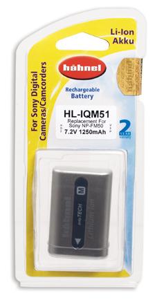 Hahnel HL-IQM51 Wiederaufladbare Batterie / Akku (Grau, Silber)