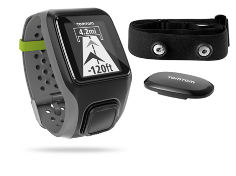 TomTom Multi-Sport GPS Watch + Heart Rate Monitor (Schwarz, Grau)