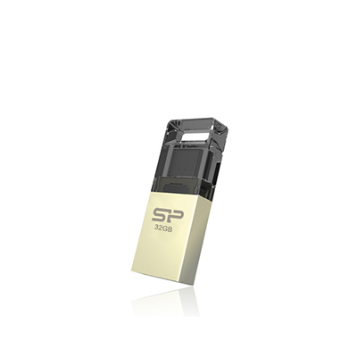 Silicon Power Mobile X10 16GB 16GB USB 2.0 Champagner USB-Stick (Champagner, Gold)