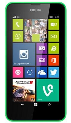 Nokia Lumia 630 8GB Schwarz, Grün (Schwarz, Grün)