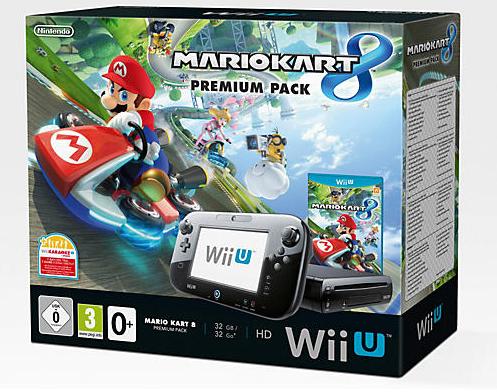 Nintendo Wii U 32GB + Mario Kart 8 Premium (Schwarz)