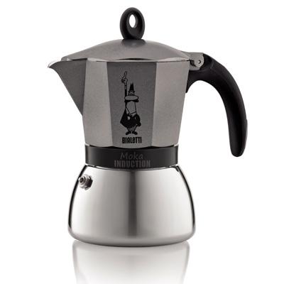 Bialetti 4823 Kaffeemaschine (Schwarz, Grau, Edelstahl)