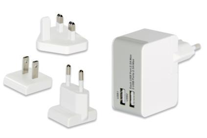 Ednet 31808 Ladegeräte für Mobilgerät (Weiß)
