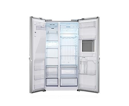 Amerikanischer Kühlschrank Lg : Lg gsp pvyz side by side kühlschrank edelstahl in köln kaufen