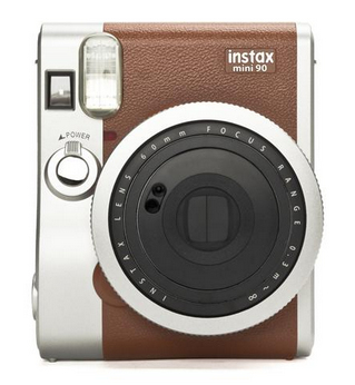 Fujifilm instax mini 90 NEO CLASSIC (Braun, Edelstahl)