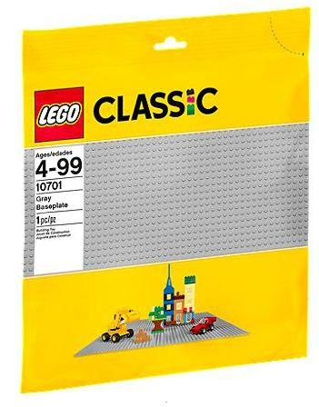 Lego Classic Graue Grundplatte 1Stück (Grau)