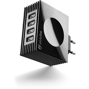 Cellular Line USB CHARGER QUAD ULTRA (Schwarz)