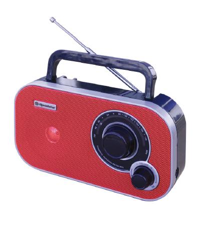 Roadstar TRA-2235 Tragbar Analog Rot Radio (Rot)