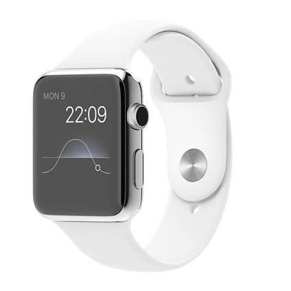"""Apple Watch 1.5"""" OLED 50g Edelstahl Weiß (Weiß, Edelstahl)"""