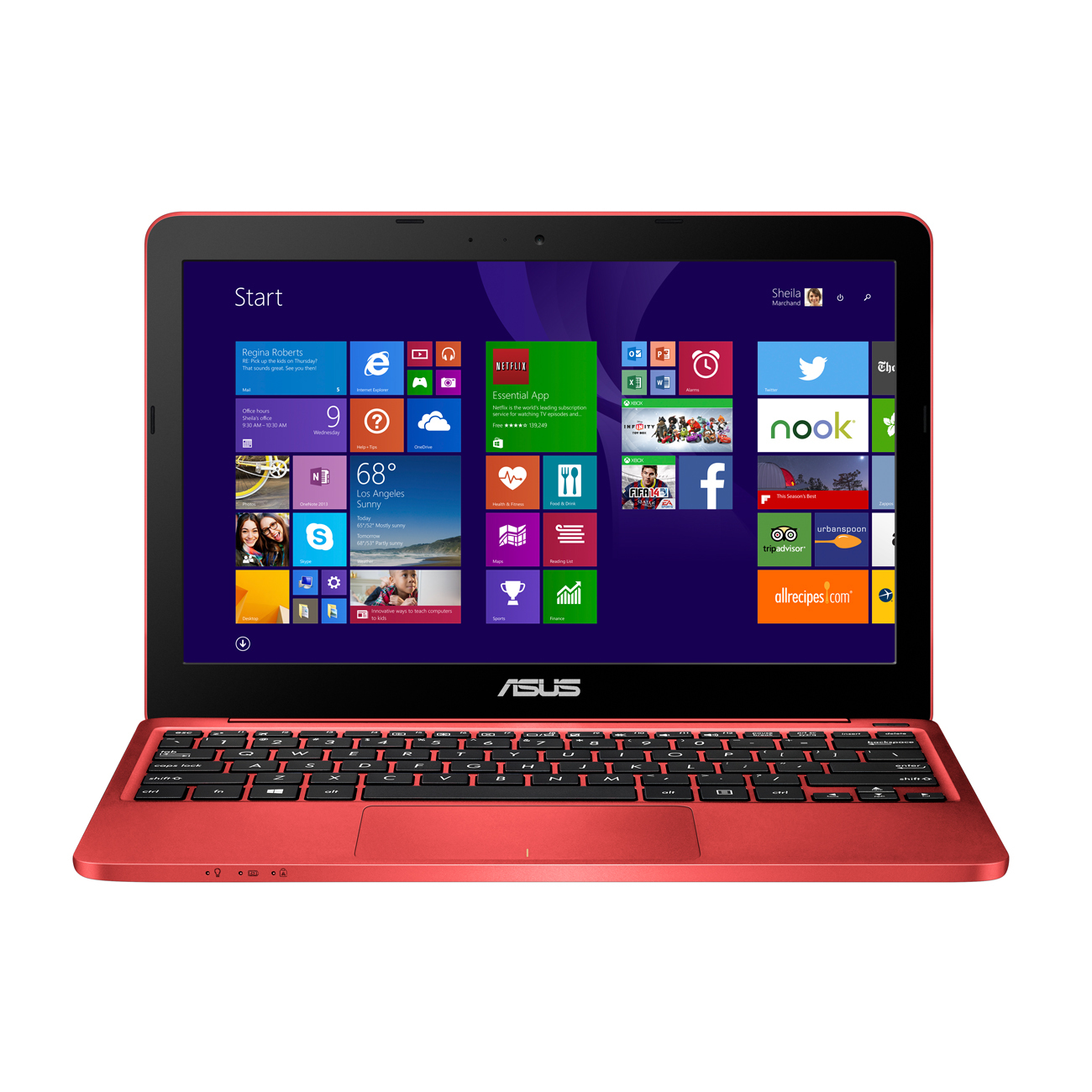 ASUS EeeBook F205TA-FD0064TS (Rot)