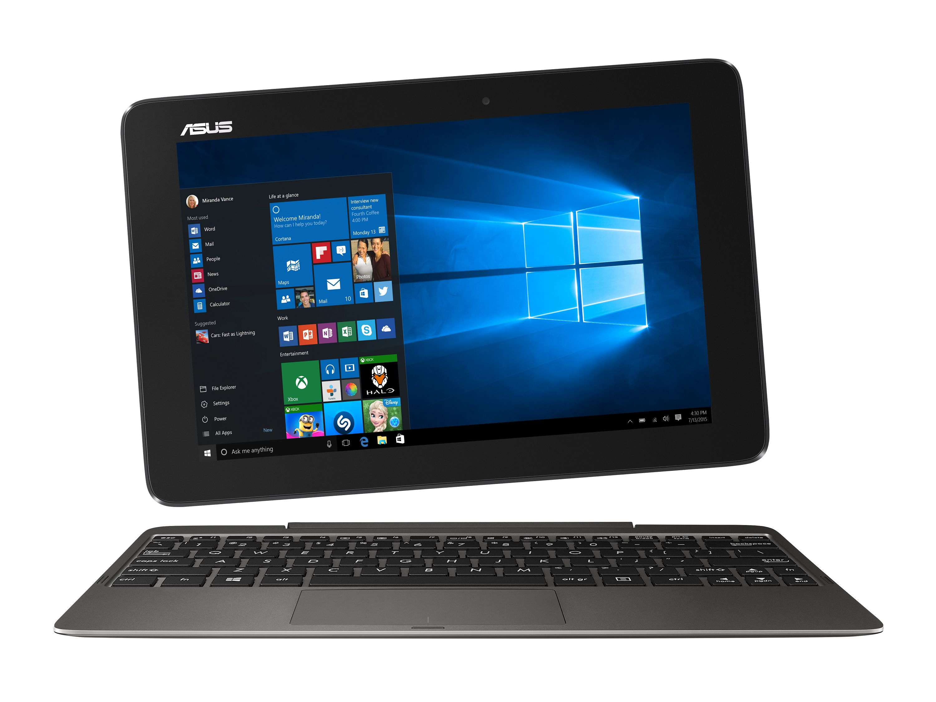 ASUS Transformer Book T100HA-FU030T (Grau)