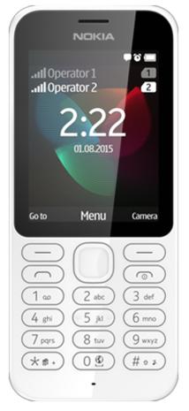 Nokia 222 Dual SIM 2.4Zoll 79g Weiß (Weiß)