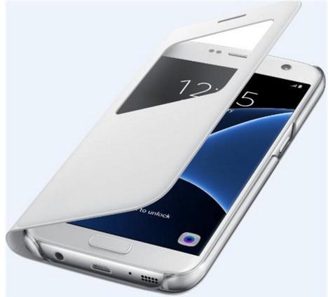 """Samsung EF-CG930PWEGWW 5.1"""" Abdeckung Weiß Handy-Schutzhülle (Weiß)"""
