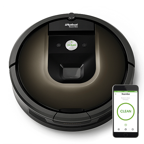 iRobot Roomba 980 Beutellos 0.6l Schwarz, Braun Roboter-Staubsauger (Schwarz, Braun)