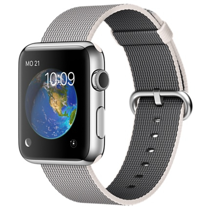 "Apple MMG02FD/A 1.5"" OLED 50g Edelstahl Smartwatch (Grau, Perleffekt, Edelstahl)"