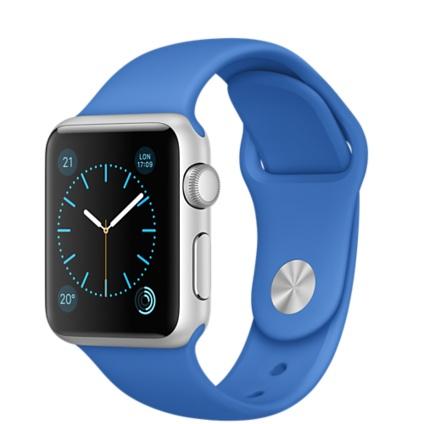 "Apple MMF22FD/A 1.32"" OLED 25g Silber Smartwatch (Blau, Edelstahl)"
