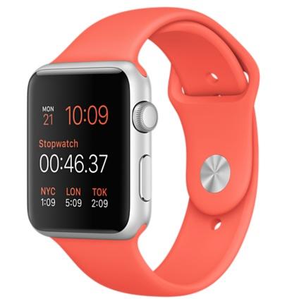 "Apple MMFL2FD/A 1.5"" OLED 30g Silber Smartwatch (Orange, Silber)"