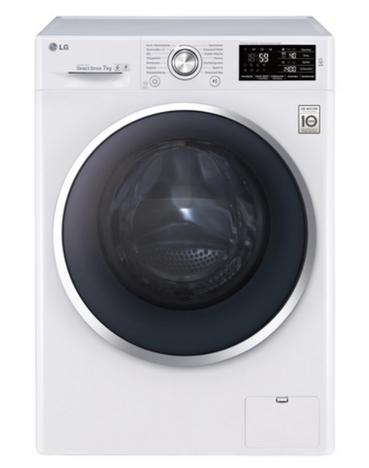 LG F14U2QCN2H Freistehend Frontlader 7kg 1400RPM A+++-40% Weiß Waschmaschine (Weiß)