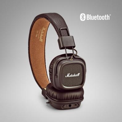 Marshall Major II Bluetooth Kopfband Binaural Wired / Bluetooth Braun Mobiles Headset (Braun)