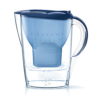 Brita Marella Pitcher-Wasserfilter 2.4l Blau (Blau, Transparent)
