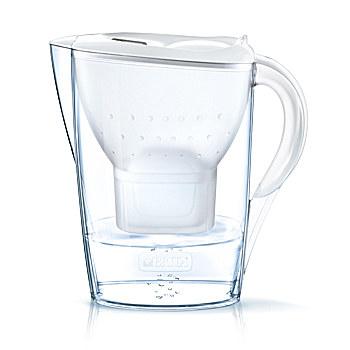 Brita Marella Pitcher-Wasserfilter 2.4l Weiß (Transparent, Weiß)