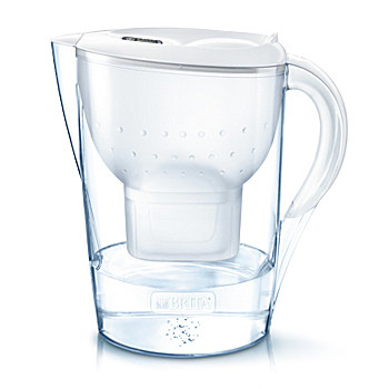 Brita Marella XL Pitcher-Wasserfilter 3.5l Weiß (Transparent, Weiß)