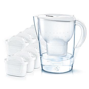 Brita 1026229 Pitcher-Wasserfilter 2.4l Weiß Wasserfilter (Transparent, Weiß)