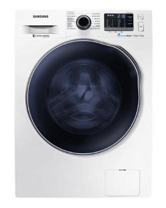 Samsung WD72J5400AW/EG Freistehend Frontlader A Blau, Weiß Waschtrockner (Blau, Weiß)