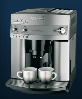 DeLonghi ESAM3200S Kaffeemaschine (Silber)