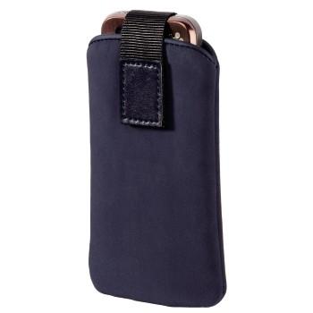 """Hama """"Velvet Pouch"""" Mobile Phone Holster, blue, size M (Blau)"""