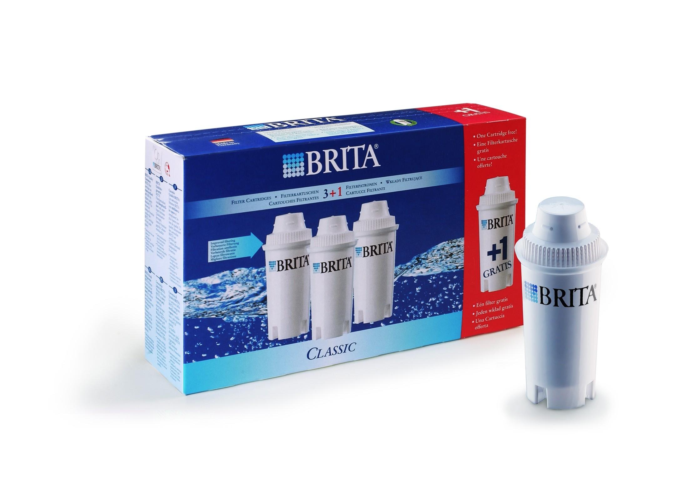 Brita Filter cartridges CLASSIC 3+1 free
