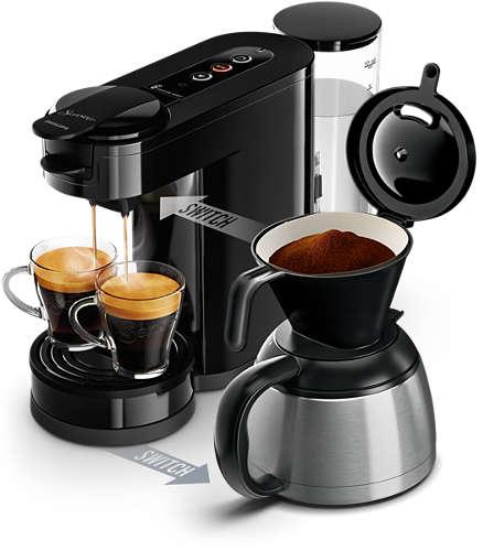 Senseo Pad- und Filterkaffeemaschine HD6592/60 (Schwarz)
