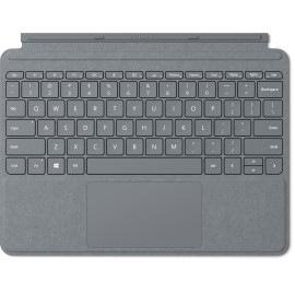 Microsoft Surface Go Signature Type Cover QWERTY Deutsch Platin Tastatur für Mobilgeräte (Platin)
