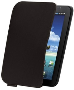 Samsung Galaxy Tab Leather Pouch (Schwarz)