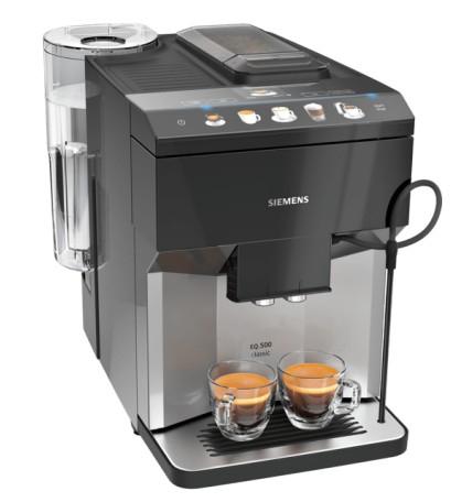 Siemens iQ500 TP503D04 Kaffeemaschine Vollautomatisch Espressomaschine (Schwarz, Edelstahl)