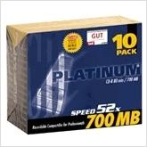 Bestmedia Platinum CD-R 700 MB 10er Slimcase