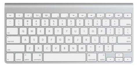 Apple MC184FN/B Tastatur für Mobilgerät (Weiß)