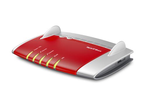 AVM FRITZ!Box 7330, DE ADSL2+ WLAN Eingebauter Ethernet-Anschluss Grau, Rot (Grau, Rot)